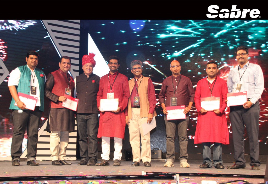 Sabre employees in Bangalore are acknowledged for their contribution to the company during 10th anniversary celebration