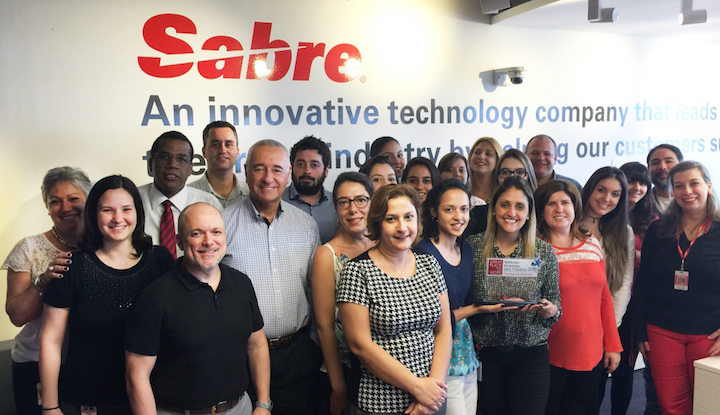 Colleagues and executives from Sabre Brazil, proud to be part of the 8th Best Company to work for in Brazil
