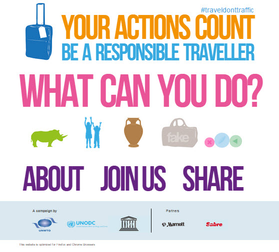 In 2014, Sabre joined Marriott to partner with UNWTO and UNODC to promote responsible travel.